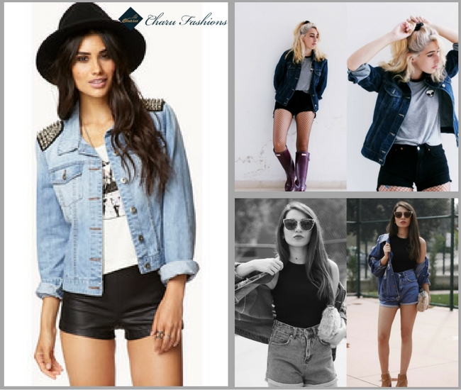 Denim Jacket with Shorts
