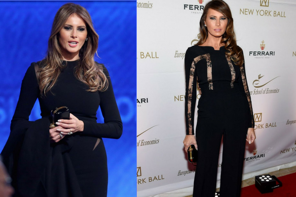 Melania Trump in Black Dress