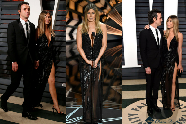 Jennifer Aniston & Justin Theroux in Oscar 2017 - Charu Fashions