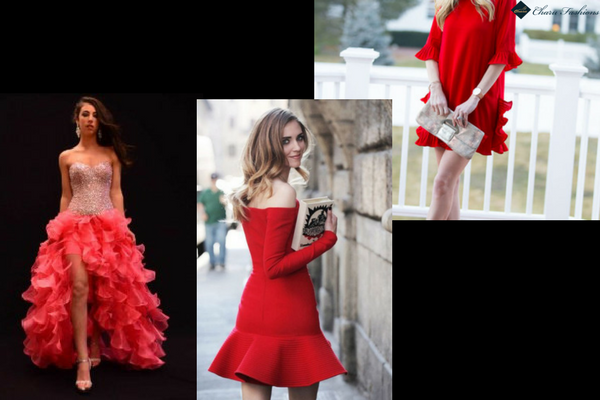 Ruffled Dress for Valentine's Day - Charu Fashions