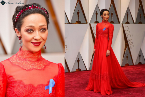 Ruth Negga in Oscar 2017- Charu Fashions