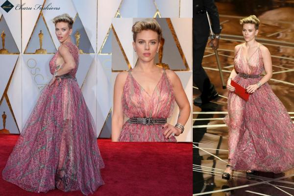 Scarlett Johansson in Oscar 2017 - Charu Fashions