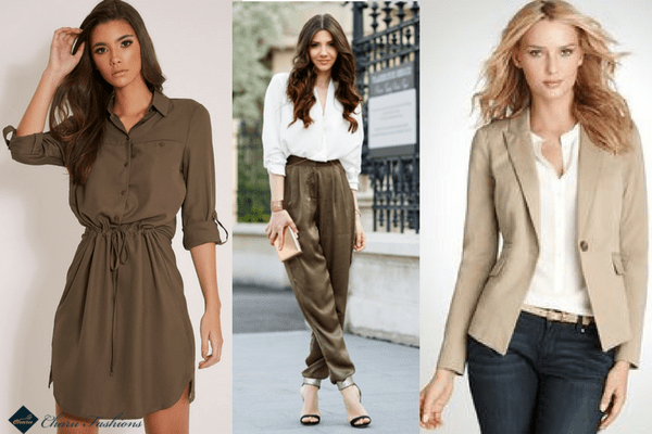 Khaki at Workplace | CharuFashions