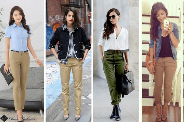 khaki Pants | CharuFashions