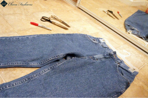 Use pair of scissors To Cut your jeans- Charu Fashions