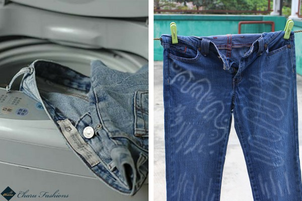 Wash And Dry your Jeans To get Faded Jeans - Charu Fashions