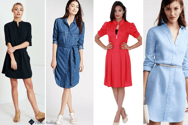 Shirt Dresses | CharuFashions