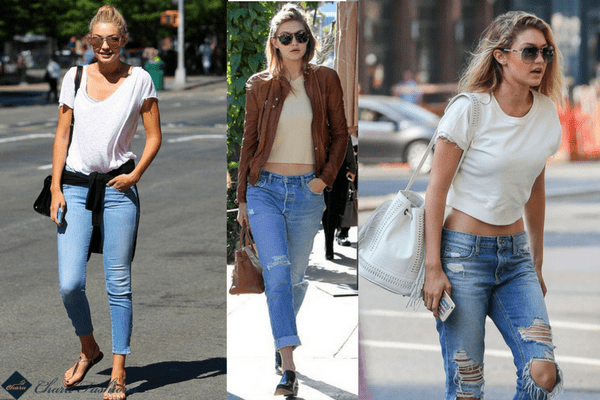 Casual Look of Gigi Hadid | Charufashions