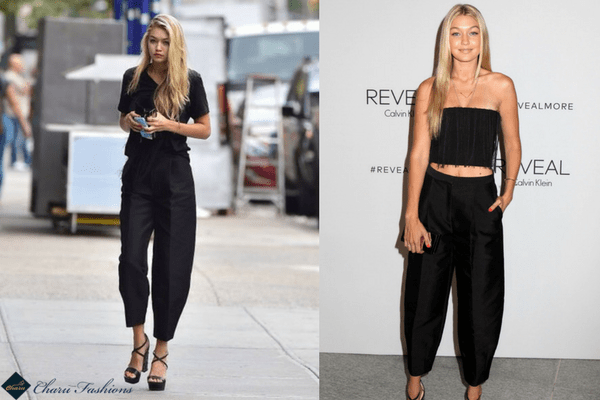 Gigi Hadid in Harem Pants | Charufashions