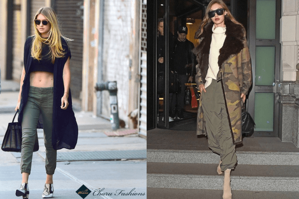 Gigi Hadid in Turtleneck Top | Charufashions