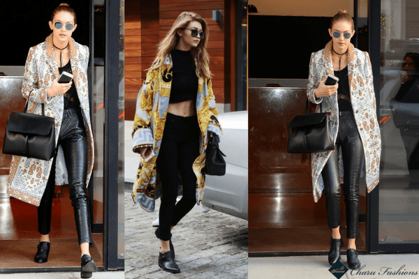 Gigi Hadid in all black | Charufashions