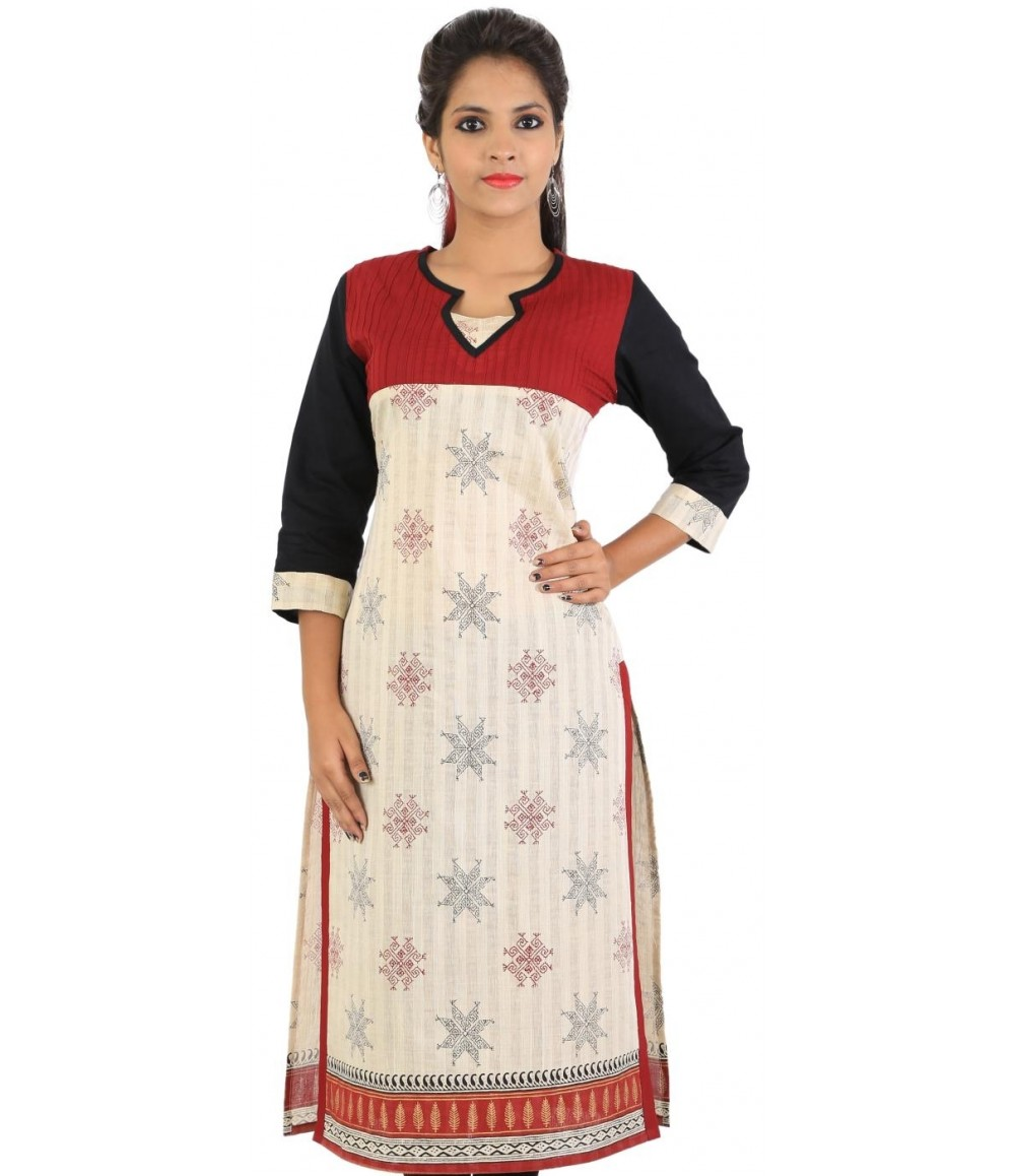 White Cotton Women's Kurti