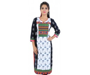 Casual Floral Printed Cotton Women's Kurti