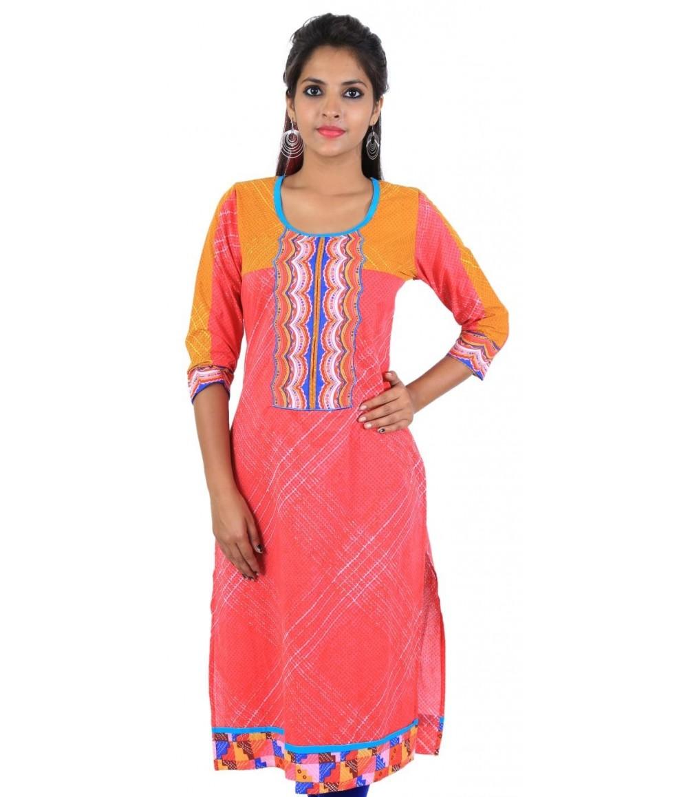 Pink Color Women's Cotton Kurti
