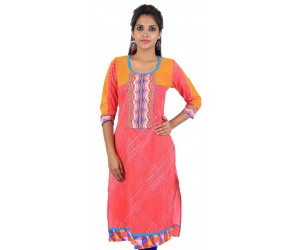 Pink Color Women's Cotton Kurti