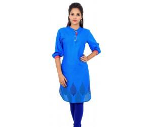Printed Blue Women's Kurti