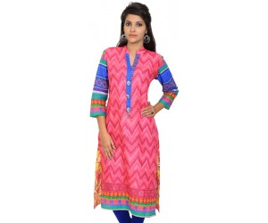Digital Printed Pink Women Kurti