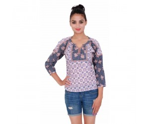 Flower Print Lovender color Women's Top