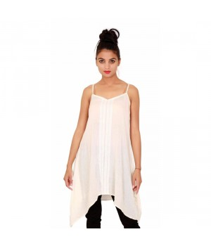 Casual Cotton Sleevless Women's white Tunic